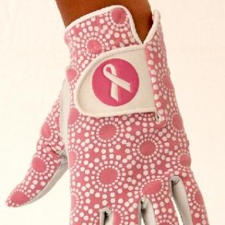 Golfhandske dam rosa