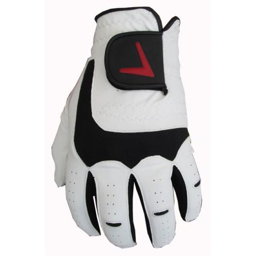 Golfhandske herr svart/vitt med rött logo